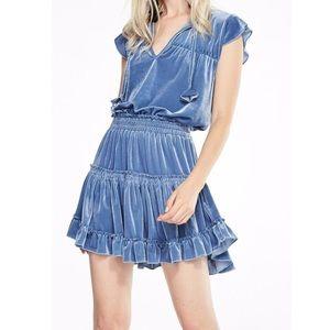 Miss Los Angeles Blue Velvet Mini Dress